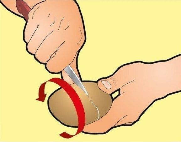 Kaip nulupti virtas bulves per kelias sekundes? Tai paprasčiau nei paprasta!